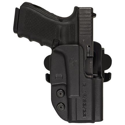 Comp-Tac International OWB Modular Mount Glock 19, 23, 32 Gen5 RSC Holster (Color: Black, Tamaño: GLOCK - 19/23/32 Gen5)