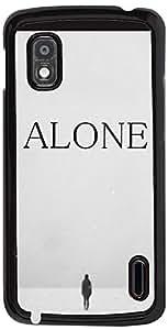 PrintVisa Love Alone Case Cover for LG Nexus 4