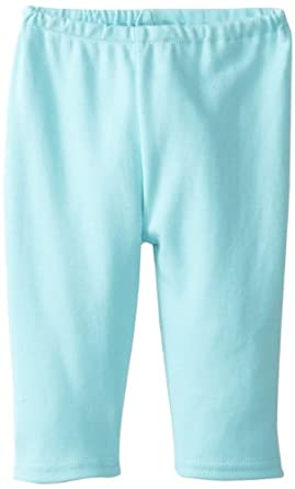 Zutano Unisex-Baby Newborn Pastel Solid Pant, Aqua, 3 Months