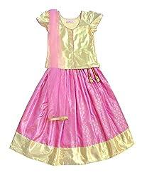 Campana Lavender & Gold Lehenga Choli Set For Baby Girl