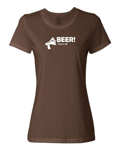 Shirtloco Women'S Beer! That Is All T-Shirt, Chocolate 3Xl front-501249