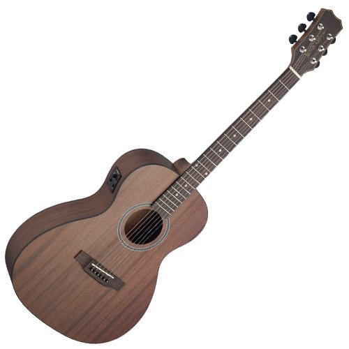 JamesNeligan 058838 Guitare electro-acoustique Parlor en acajou massif Gris