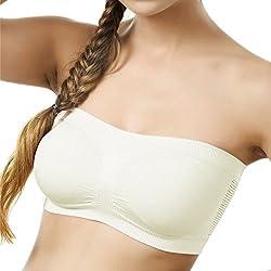 BYC TB-1002 White Non-Padded Tube Bra for Girl's & Women-30