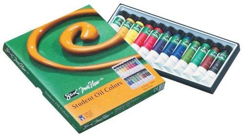 Sax True Flow Student Oil Color Paints- 2/5 Ounce Tubes - Set of 24-Assorted Colors