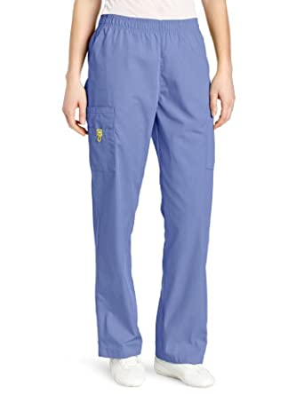 WonderWink Women's Scrubs Quebec Full Elastic Cargo Pant, Ceil Blue, Medium