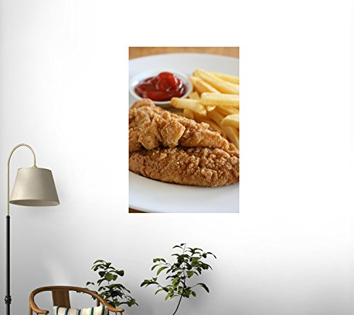Chicken Strips Wall Decal - 36 Inches H X 24 Inches W - Peel And Stick Removable Graphic front-664037