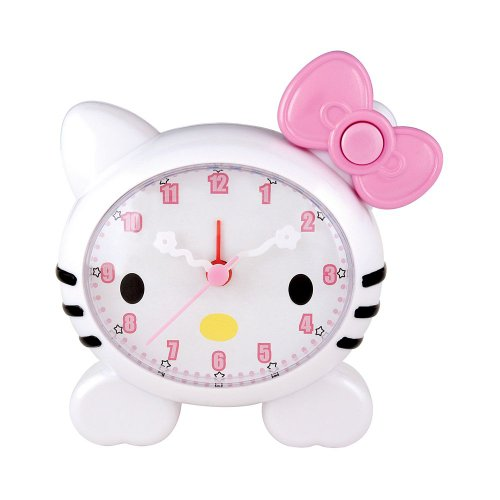 Hello Kitty Alarm Clock with Cute Kitty Face