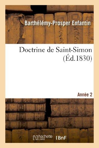 Doctrine de Saint-Simon. Année 2