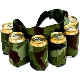 Redneck 6 Pack Beer & Soda Can Holster Belt – Camo
