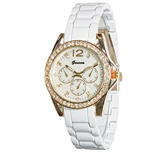 Amazon.com: Geneva Women's White Small Face Watch