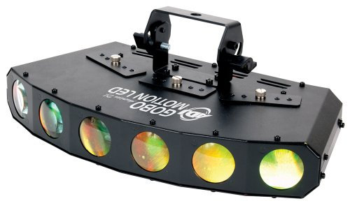 American Dj Supply Gobo Motion 6 Lens Led Powered Gobo Projector With Color Changing Beams And Built-In Programs