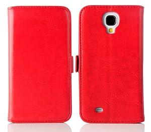 JAMMYLIZARD | Luxuriös Wallet Ledertasche Hülle für Samsung Galaxy S4, ROT