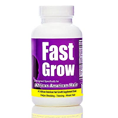 Best Hair Growth Vitamin to Grow Hair Faster with Fast Grow Black Hair Growth Enhancer 90 Vegetarian Capsules 30 Day Supply