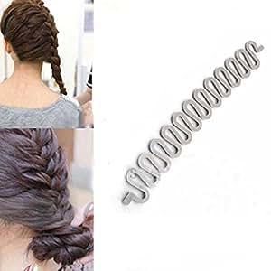 Aostek 1 Pcs Grey Plastic Magic Hair Twister Bun Maker Curler Hair Holder Aostek