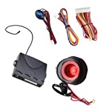 1-Way Car Alarm System with Two 4-Button Remotes Engine Start Code Learning Remote controls