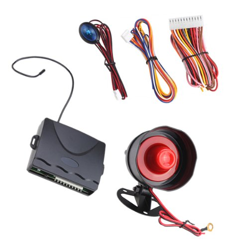 1-Way Car Alarm System With Two 4-Button Remotes Engine Start Code Learning Remote Controls front-832673