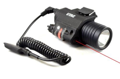 UTAC RAS RIS Rail Mounted Tactical Flashlight with Laser
