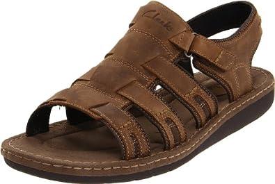 Clarks Men's Union Sandal,Brown,12 M US