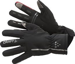 Craft Gants imperméables coupe-vent mixte adulte Noir/Rouge M