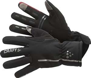 Craft Gants imperméables coupe-vent mixte adulte Noir/Rouge XS