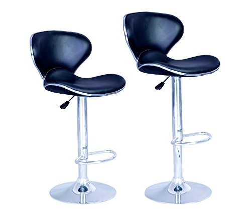 new-modern-adjustable-synthetic-leather-swivel-bar-stools-chairs-sets-of-2