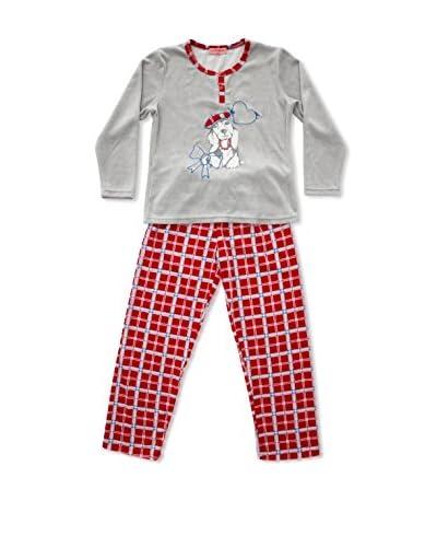 Bluedreams Pijama Niño Tundosado Gris