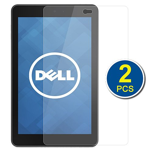 Birugear 2-Pack Premium Hd Crystal Clear Lcd Screen Protector For Dell Venue 7 - 7'' Hd Screen Android Tablet
