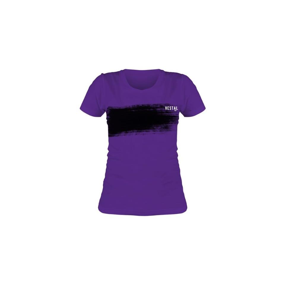 Vestal Brush Womens Short Sleeve Fashion Shirt   Purple
