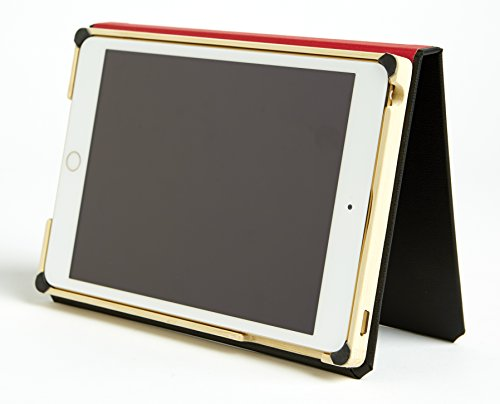 The iPad Mini Classic Black Case by DODOcase - The Original Handcrafted Book Bound iPad Case (Original Red)