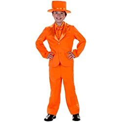 Big Boys' Orange Tuxedo Medium (8-10)