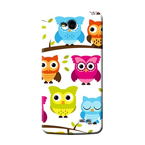 Garmor Owl Design Plastic Back Cover For LG L90 D405
