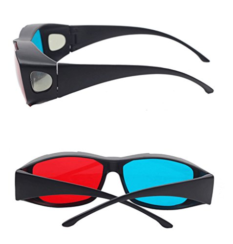 Anaglyph 3D Glasses Blu Ray Movies 3D Vision Active 3D Glasses 1Pcs