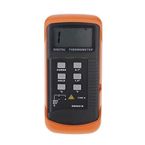 ポータブルデジタル液晶温度計 K型熱電対センサーシングルチャネル温度計で