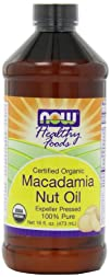 Now Foods Organic Macadamia Oil Pure 16-Ounce