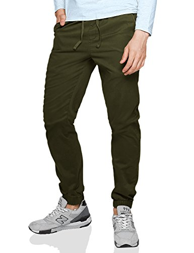 match-mens-loose-fit-chino-washed-jogger-pant-32-6535-army-green
