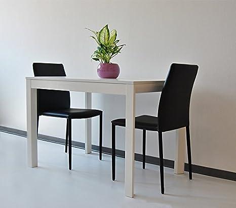 Tavolo allungabile in legno 110>160x70 H77 cm Giove Bianco-Tavolo sala da pranzo di qualità italiana