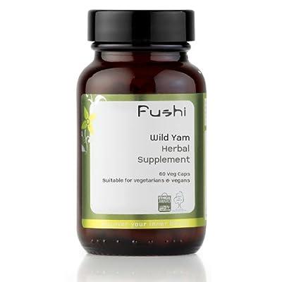Fushi Wild Yam Organic Capsules 60 Veg Caps 400mg/cap, Biodynamic Harvested Herbs