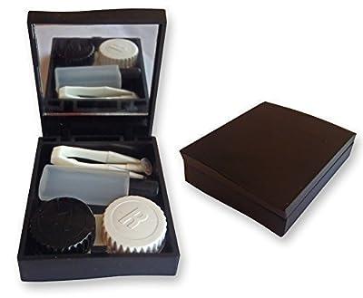 Dental Aesthetics UK Contact Lens Travel Kit Case Mirror Tweezers & Solution Storage Set For Lenses