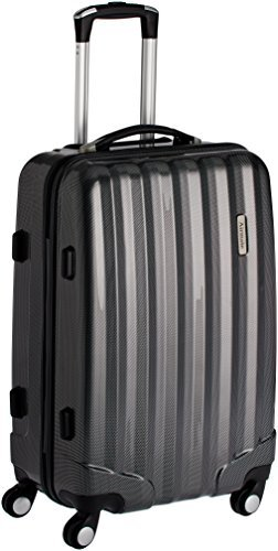 Airmate Polycarbonate 75 cms Black Hard sided Suitcase (AM010)