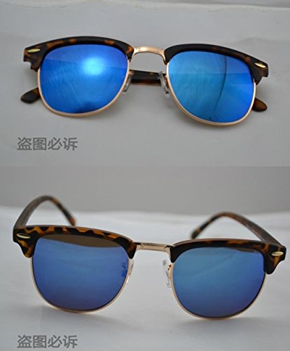 2015 Vintage Glasses sunglasses women men sun glasses (Leopard Blue)