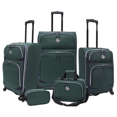 Travelers Choice Luggage Beverly Hills Country Club Spinner Set, Green, Standard best price