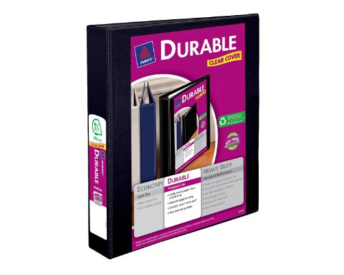 Avery-Durable-View-Binder-with-1-5-Inch-EZ-Turn-Ring-Black-1-Binder-17021
