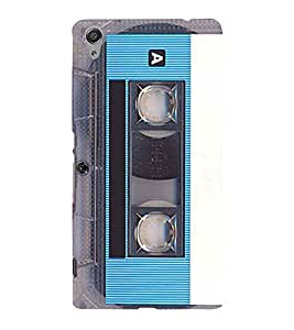 Vintage Blue Cassette Cute Fashion 3D Hard Polycarbonate Designer Back Case Cover for Sony Xperia C6