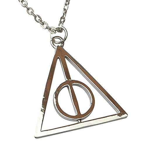 Wizardry Silver Triangle Necklace with Spinning Center Icon (Deathly Hallows Merchandise compare prices)