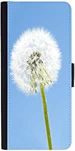 Snoogg Dandelion In The Wind Graphic Snap On Hard Back Leather + Pc Flip Cove...
