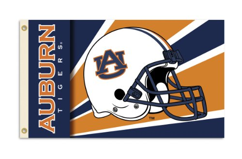 Auburn Tigers 3 Ft. X 5 Ft. Flag W/Grommets - Helmet Design at Amazon.com