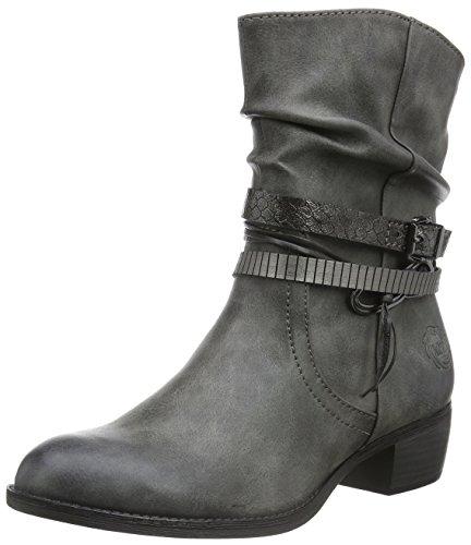 Marco Tozzi25316 - Stivali bassi con imbottitura leggera Donna , Grigio (Grau (GREY ANTIC COM 202)), 39 EU