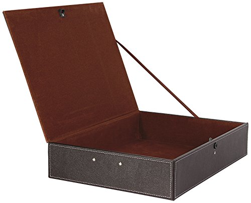osco-faux-leather-box-file-brown