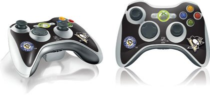 Skinit Pittsburgh Penguins Solid Background Vinyl Skin for 1 Microsoft Xbox 360 Wireless Controller