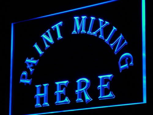 Adv Pro I883-B Paint Mixing Here Shop Display Led Light Sign